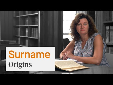 Surname origins - Professor Turi King