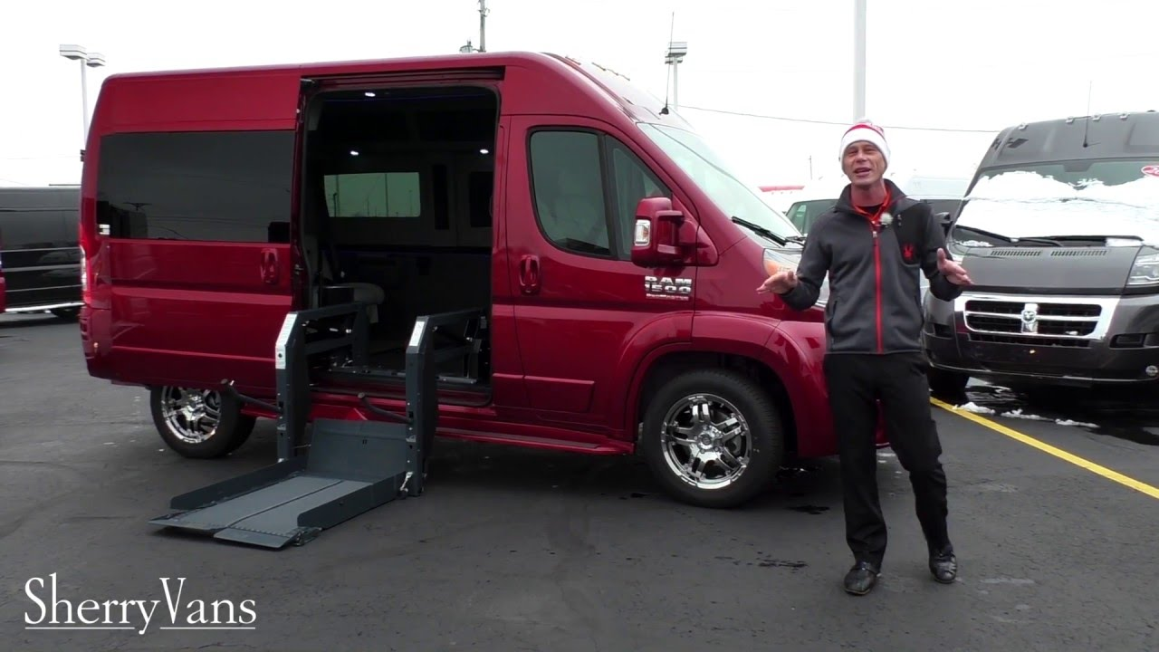 [Wheelchair-Accessible] 2016 RAM ProMaster Mobility Conversion Vans For Sale | Sherry Vans - YouTube