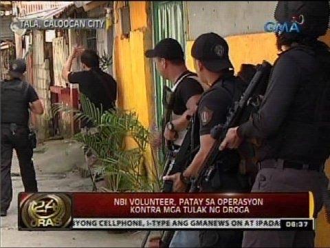 24 Oras: NBI volunteer, patay sa operasyon kontra mga tulak ng droga