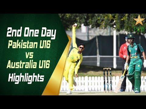 Highlights - 2nd One Day | Pakistan U16 Vs Australia U16 | Pakistan U16 Vs Australia U16 In UAE 2019