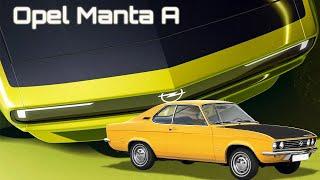 Opel Manta A – легенда 70-х, которая олицетворяет будущие электрокары компании