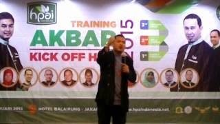 training akbar kick off hpai 2015 bersama ari maryadi