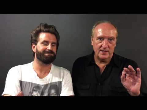 Grégoire Ludig et Bernard Farcy laissent un mot pour le cinéma Le Marilyn