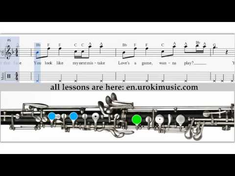 How to Play Oboe Taylor Swift - Blank Space - Sheet Music Tutorial Lesson