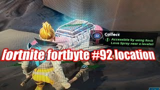 fortnite Fortbyte #92 location activate by rock love emoji