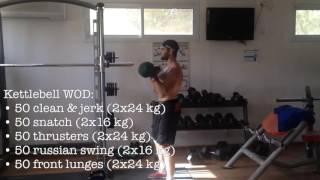CrossFit. Kettlebell WOD