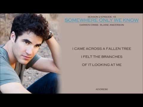 Glee _ Somewhere Only We Know Lyrics