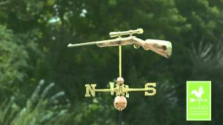 Good Directions 959p Rifle With Scope Weathervane - Polished Copper