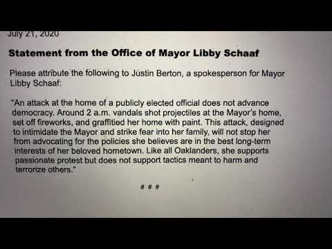 Oakland Mayor Libby Schaaf Statement On Home Attack By Vandals