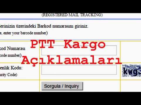 PTT Kargo takip terimleri - YouTube