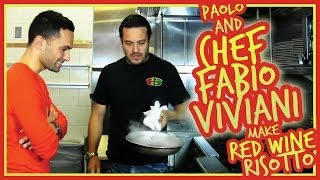 """Top Chef"" Fabio Viviani makes Red Wine Risotto!!!"
