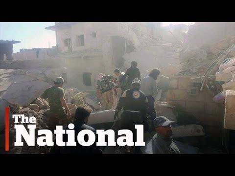 Airstrikes pound Aleppo
