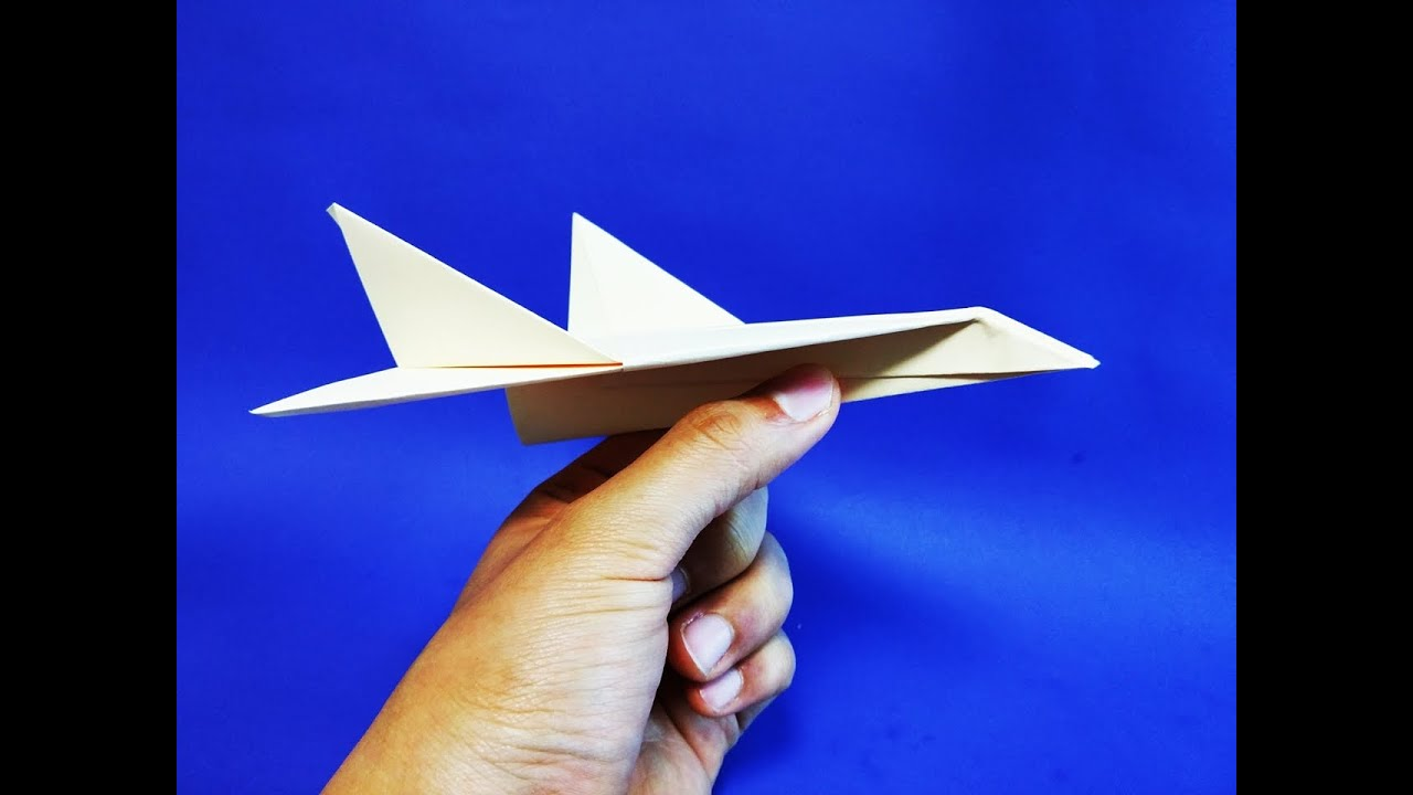 �������� ������� how to make an origami combat plane youtube