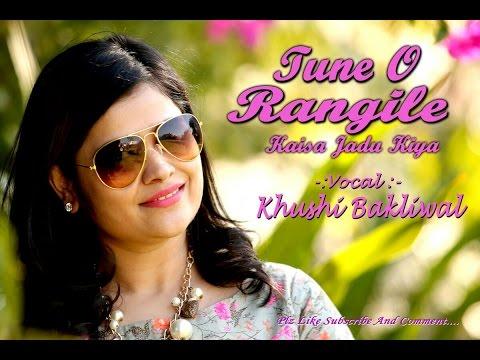 TUNE O RANGEELE - Female Cover Version | LATA MANGESHKAR | | HEMA MALINI | Ft KHUSHI BAKLIWAL