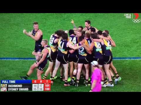 Last 41 seconds Richmond vs Sydney Swans round 8 2016