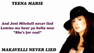Watch Teena Marie Makavelli Never Lied video