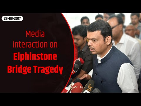 CM Devendra Fadnavis interacts with media in Mumbai on Elphinstone Bridge Tragedy