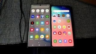 Samsung Galaxy Note 10+ and Samsung Galaxy S10+ - Quick Look