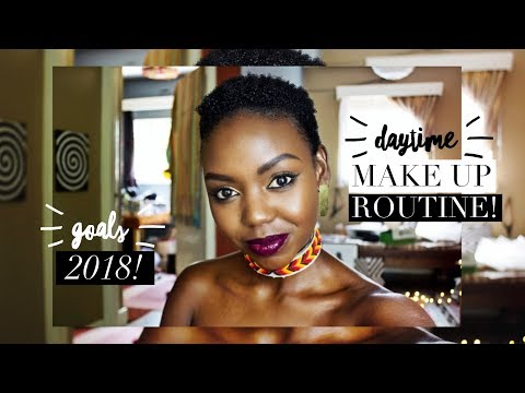 GET READY WITH ME: Locally Available Make Up + 2018 Goals || Patricia Kihoro