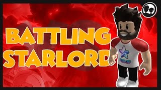 WE BATTLED STARLORD? | Roblox: Pokemon Brick Bronze