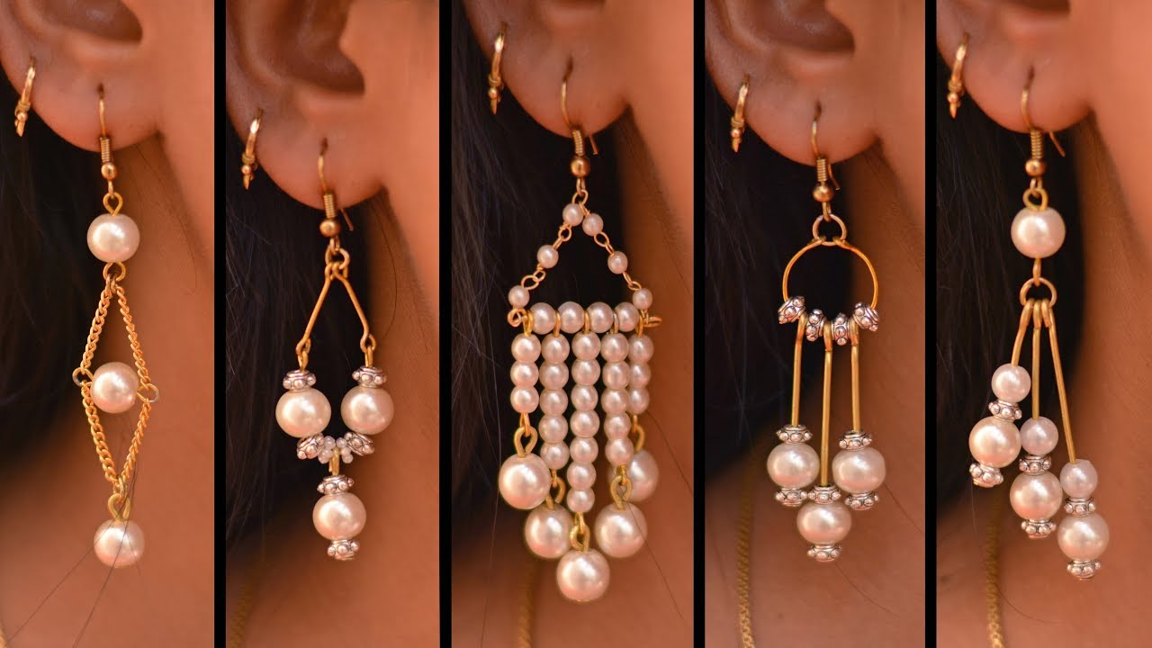 5 Easy Pearl Earring Design Diy 5 Min Craft Hand Made Jewelry