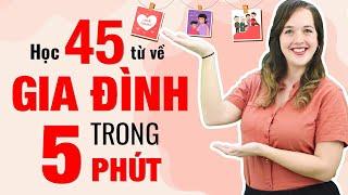 45 TỪ VỰNG TIẾNG ANH THÔNG DỤNG VỀ GIA ĐÌNH - Học Tiếng Anh Online (Trực Tuyến)