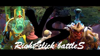 Wraith King vs Troll Warlord Dota2 Right click battleS