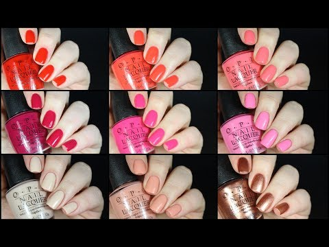LIVE SWATCH WEEK! OPI California Dreaming Collection Review!