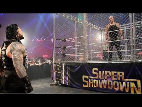 Download Roman Reigns vs. King Corbin (Steel Cage Match) WWE 29th Feb 2020 Highlights HD