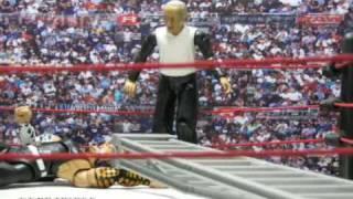 WWE Toys in Motion (WTM) Jeff hardy vs Matt hardy TLC - Falls Count Anywhere Match