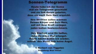 Gedicht Sonnen Telegramm NvT