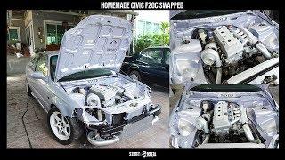 Homemade Civic coupe RWD F20C Turbo