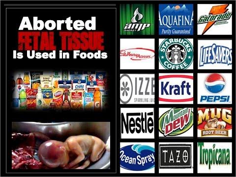 Aborted Fetal Tissue In Your Food HEK-293 Kraft, PepsiCo, Nestle Exposed