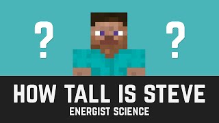 how tall is steve?   minecraft science