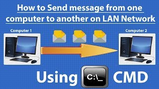 Using CMD) Send message from one computer to other computer on LAN Network