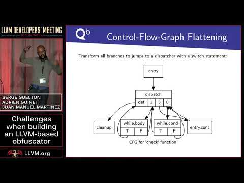 """2017 LLVM Developers' Meeting: """"Challenges when building an LLVM bitcode Obfuscator """""""