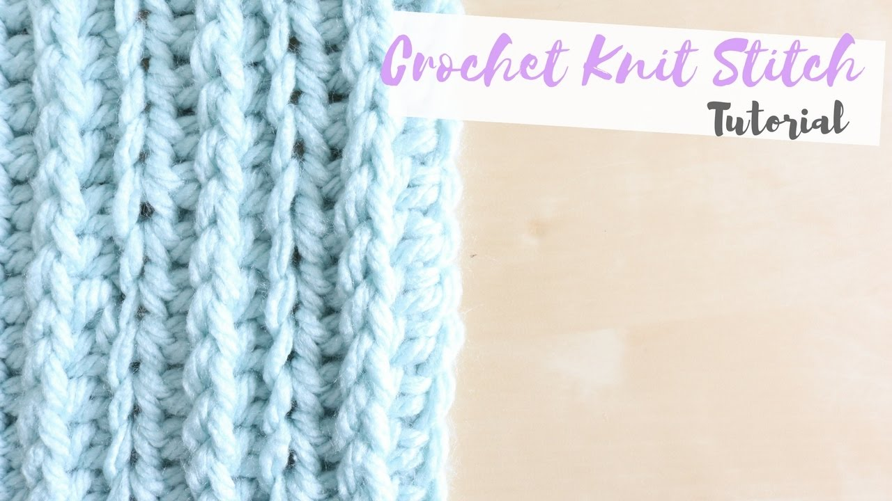 CROCHET: How to crochet the knit stitch | Bella Coco - YouTube
