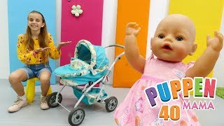 Puppen Mama - Ein neuer Kinderwagen für Rose -  Spielzeugvideo für Kinder