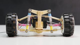 How To Make Suspension And Steering From Ice Cream Sticks