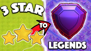 Clash of Clans - 3 STARRING TO LEGENDS LEAGUE! THE LEGENDARY TROPHY PUSH HAS BEGUN! #1