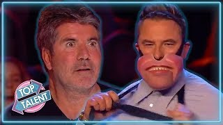 TOP 3 FUNNIEST Ventriloquists on Britain And America's Got Talent | Top Talent