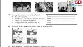 Download Soal Latihan Pelajaran Bahasa Inggris Untuk Anak SD/MI - Persiapan UN tahun 2019