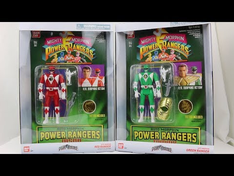 Auto Morphin Red & Green Rangers Review [Mighty Morphin Power Rangers]