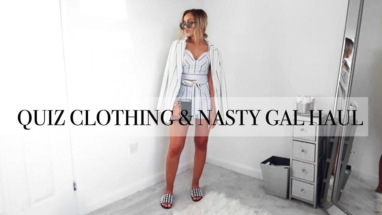 ba1f9113c0 QUIZ CLOTHING   NASTY GAL HAUL      Try-on - YouTube