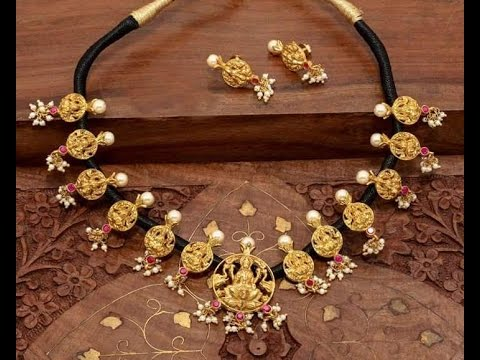 latest thread gold jewellery