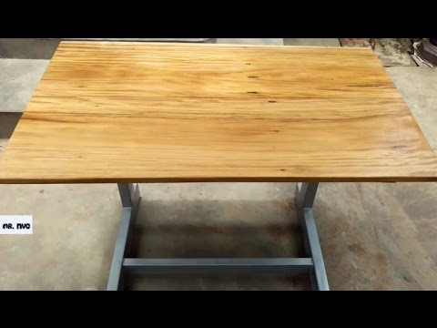 How to Make a Coffee Table with Steel Accents and wood - Diy Table