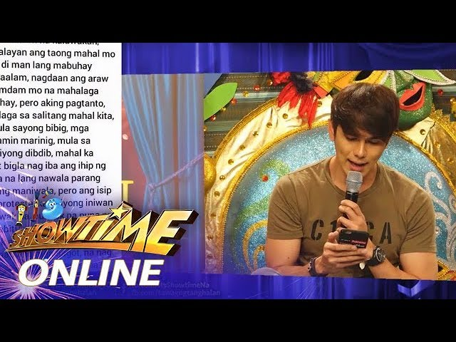 "It's Showtime Online: Fan tweets ""spoken words"" for Hashtag Franco Hernandez"