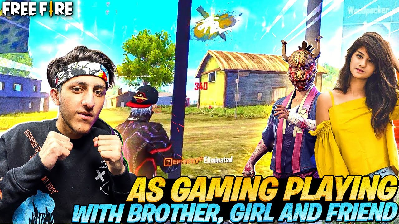 As Gaming Playing Ranked Match With Brother and Girls And Friends Garena Free Fire Max
