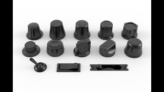 Audio Knobs 3D Models Set #1