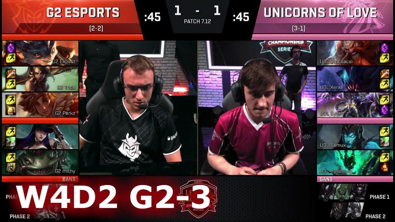 G2 eSports vs Unicorns of Love | Game 3 S7 EU LCS Summer ...  G2 eSports vs U...